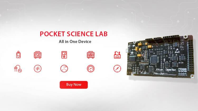 Pocket Science Lab Dev Board - A small USB powered Hardware Extension for Measuring All Kinds of Things